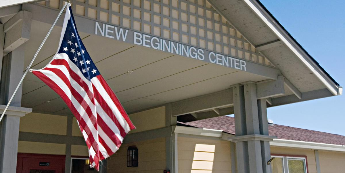 American flag in front of New Beginnings Center