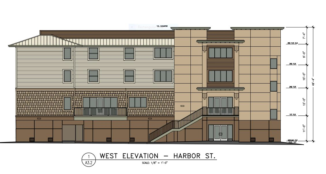 Architectural drawing of Mill Street Center