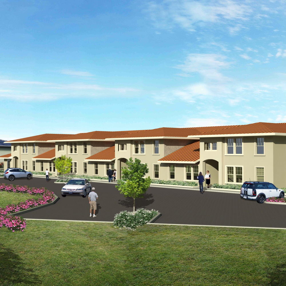 Architectural rendering of new veterans housing