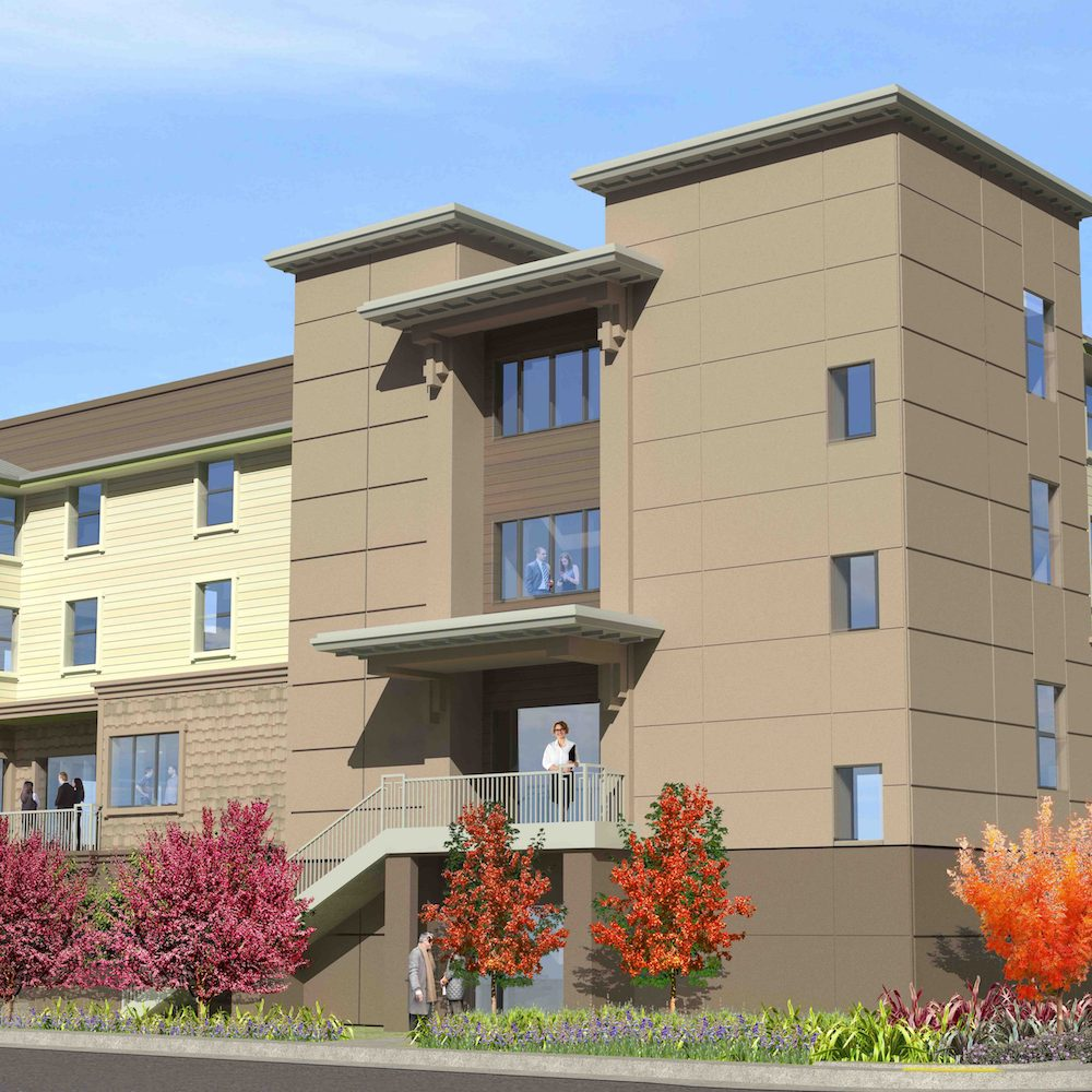 Architectural rendering of new Mill Street Center