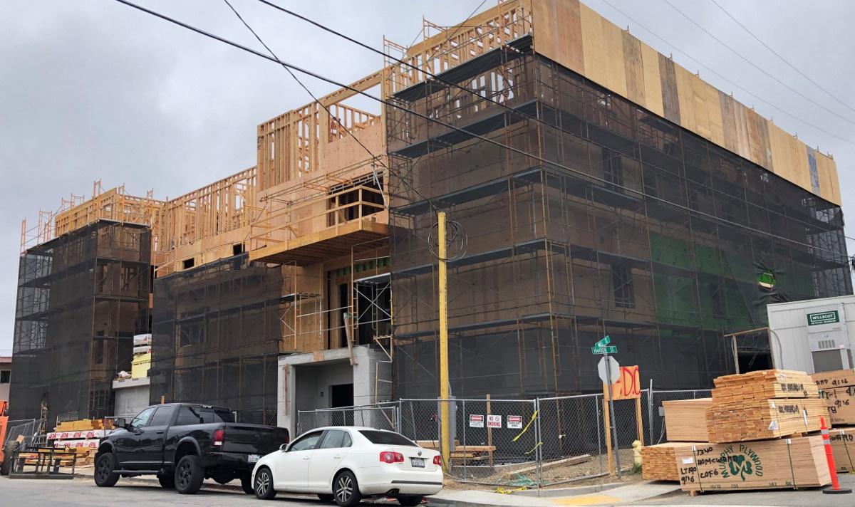 Mill Street Center under construction